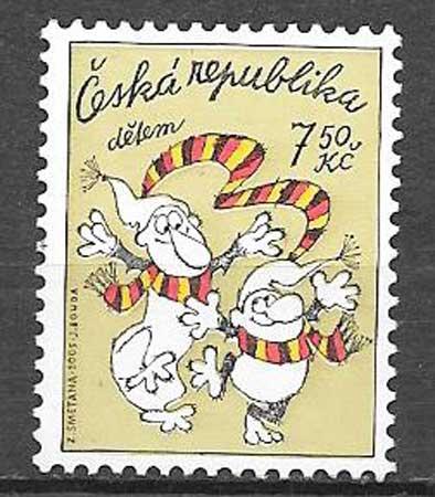 Filatelia Infancia Chequia 2005