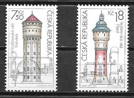 Filatelia castillos Chequia 2007