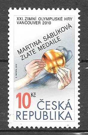 sellos Juegos Olímpicos Chequia 2010