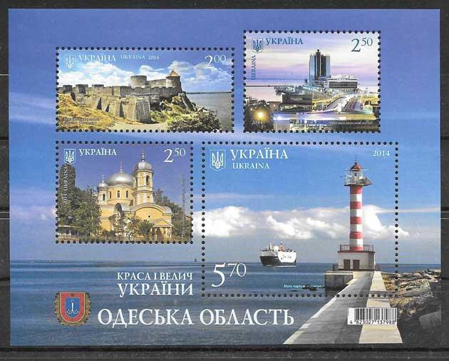 Estampillas patrimonio Ucrania 2014