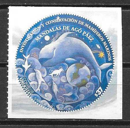 Estampillas fauna Uruguay 2007