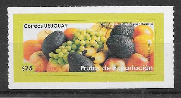 sellos frutas Uruguay 2009