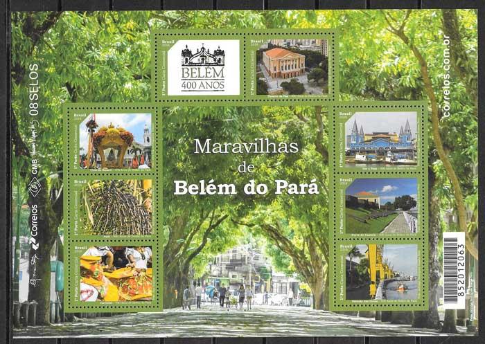 Filatelia turismo Brasil 2016
