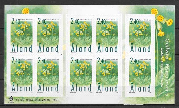 sellos emisiones conjunta Aland 1999