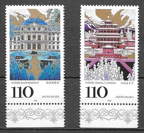 sellos emisiones conjunta Alemania 1998