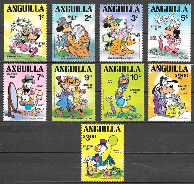 sellos disney Anguilla 1981