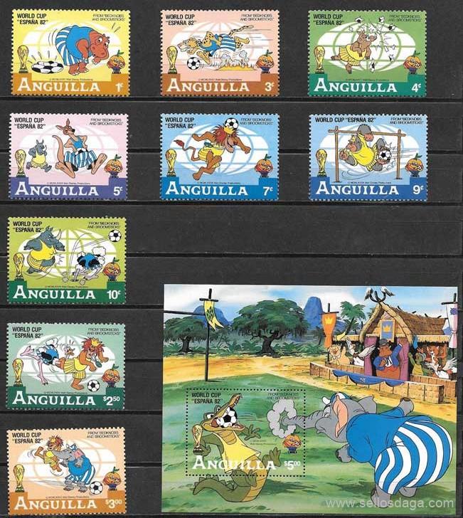 sellos de Disney Anguila 1922