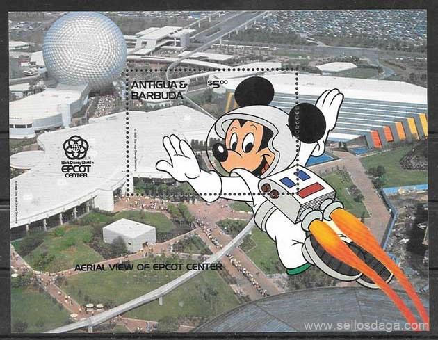 Filatelia Disney Antigua 1988