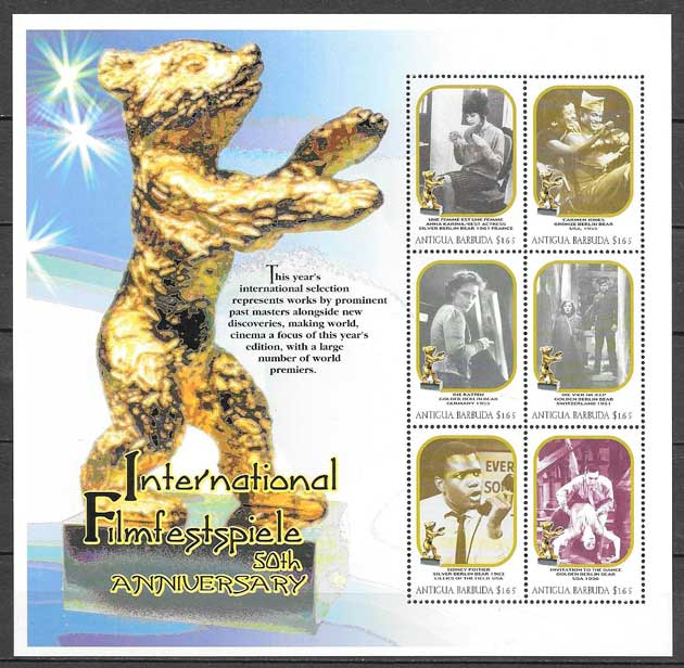 sellos cine Antigua y Barbuda 2000