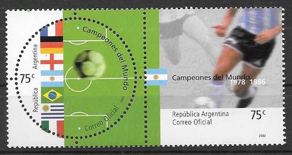 sellos filatelia Emisión Conjunta Argentina 2002