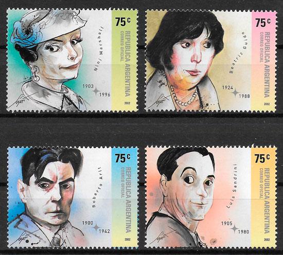 filatelia colección cine Argentina 2002
