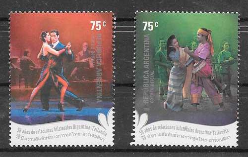 sellos emisiones conjuntas Argentina 2005