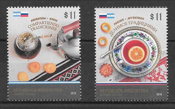 colección sellos emisión conjunta Argentina 2016