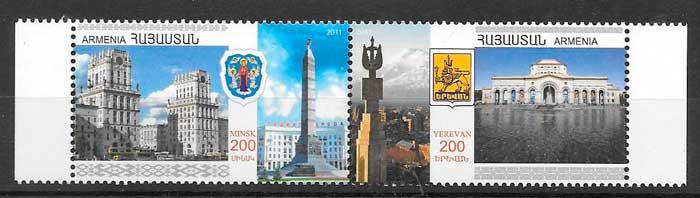 colección sellos emisiones conjunta Armenia 2011