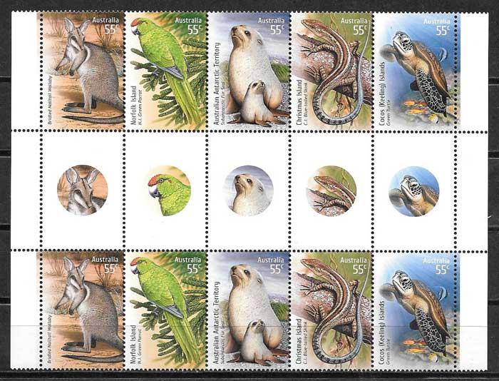 sellos emisiones conjuntas Australia 2009