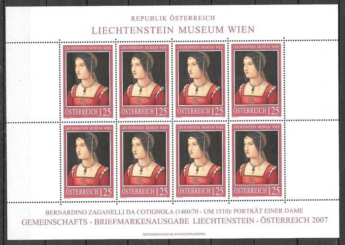 sellos Emisión Conjunta Austria 2007