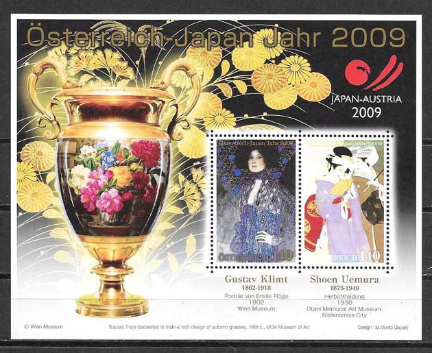 sellos colección Emisión Conjunta Austria 2009