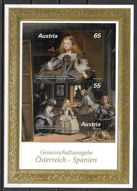 colección sellos Emisión Conjunta Austria 2009