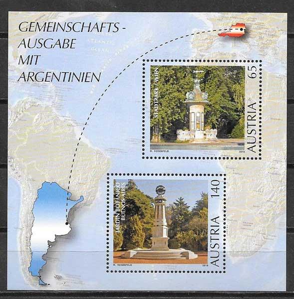 colección sellos Emisión Conjunta Austria 2010