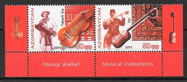 filatelia emisiones conjunta Azervaiyán 2011