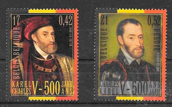 colección sellos emisiones conjuntas Bélgica 2000