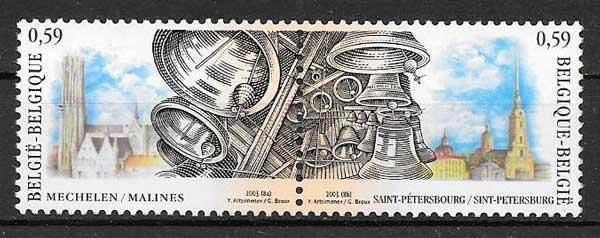 colección sellos emisiones conjunta Bélgica 2003