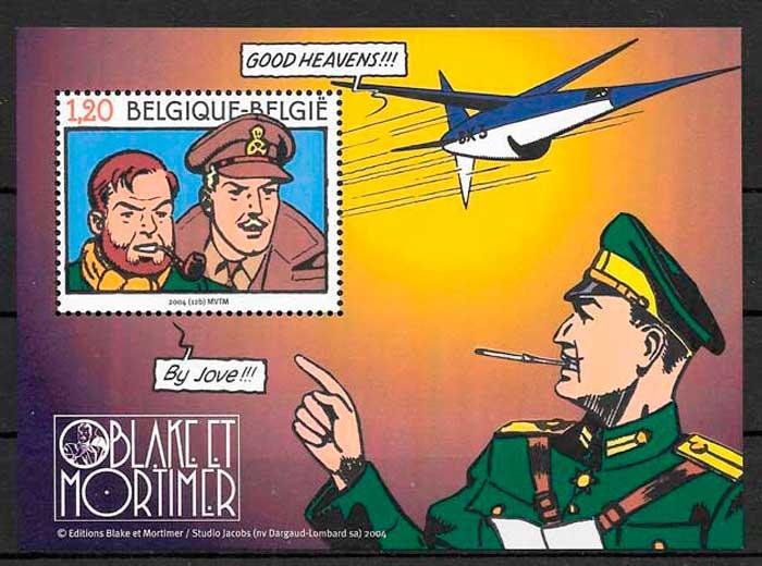 colección sellos emisiones conjuntas Bélgica 2004