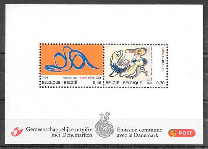 colección sellos emisiones conjunta Bélgica 2006