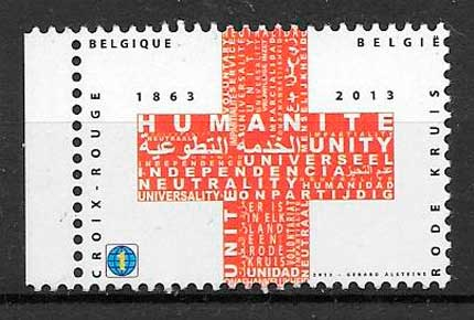 colección sellos emisiones conjunta Bélgica