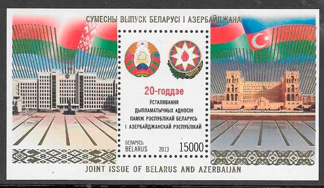 filatelia emisiones conjuntas Bielorrusia 2013