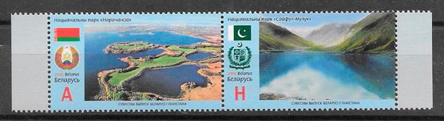 colección sellos emisiones conjunta Bielorrusia 2016