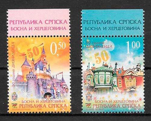 sellos Disney Bosnia Herzegovina Rep Serbia 2005