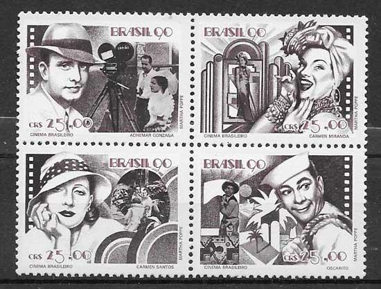 colección sellos cine Brasil 1990