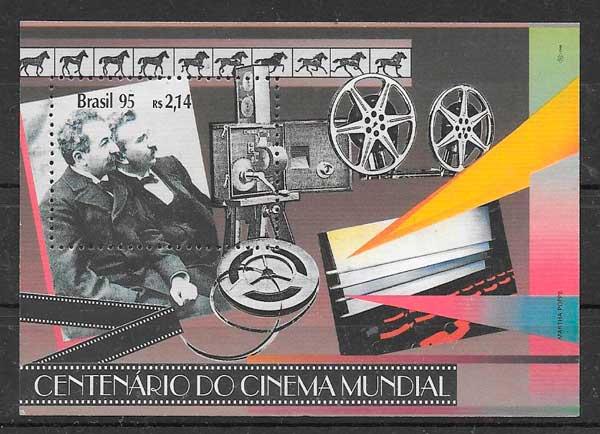 colección sellos Brasil Cine 1995