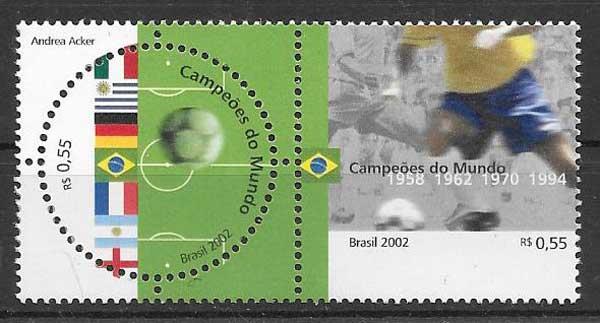 sellos Filatelia Emisión Conjunta Brasil 2002