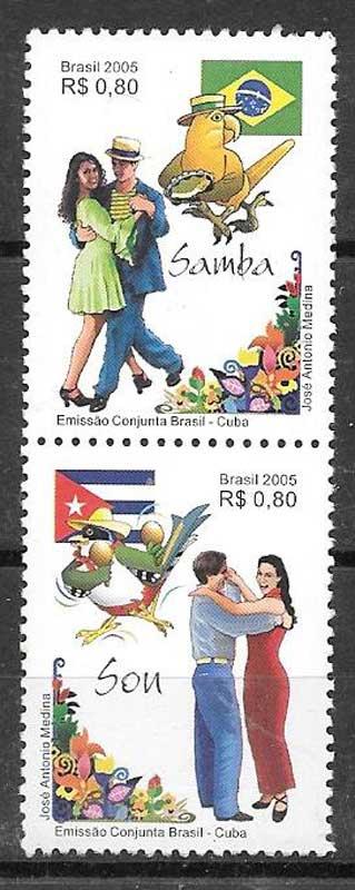 sellos Emisión Conjunta Brasil 2005