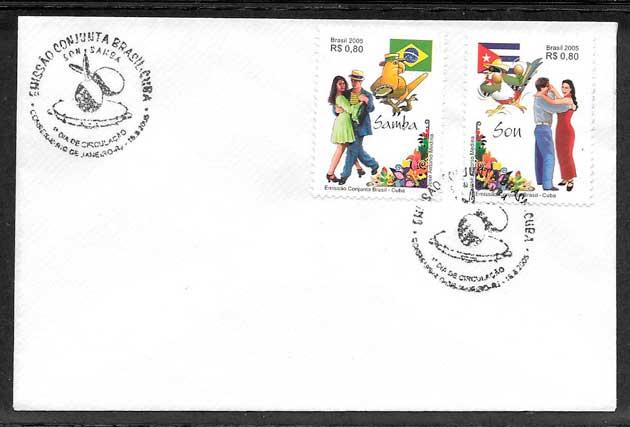 sellos emisiones conjuntas Brasil 2005