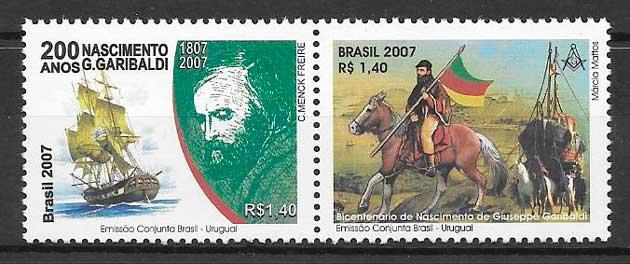 sellos emisiones conjuntas Brasil 2007