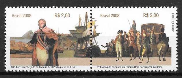 Sellos Emisión Conjunta Brasil 2008
