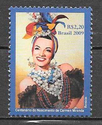 colección sellos cine Brasil 2009