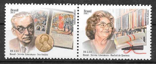 sellos colección Brasil Emisión Conjunta 2011