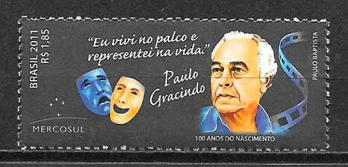 colección sellos cine Brasil 2011