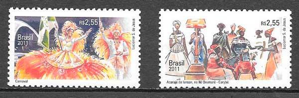 sellos emisiones conjunta Brasil 2011