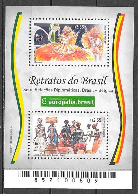 sellos emisiones conjuntas Brasil 2011