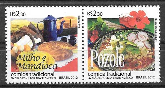 sellos colección Emisión Conjunta Brasil 2012