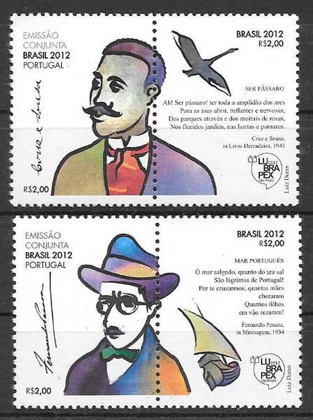 Filatelia Emisión Conjunta 2012 Brasil 2012