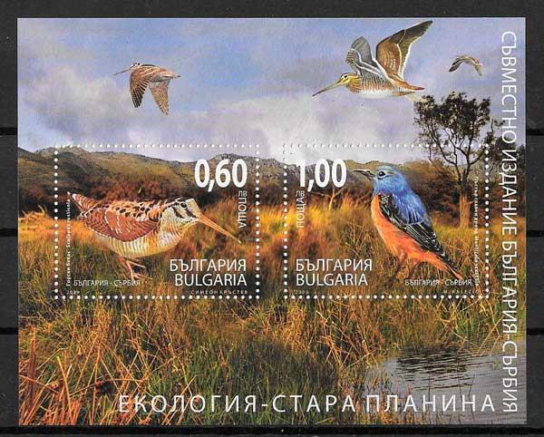 sellos colección emisiones conjuntas Bulgaria 2009