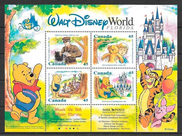 sellos Disney Canadá 1996