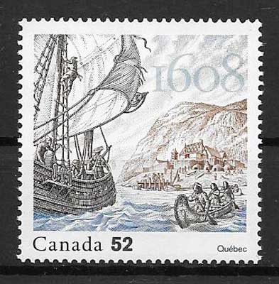 sellos Emisión Conjunta Canadá 2008