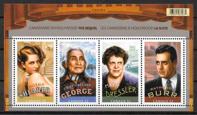 filatelia colección cine Canadá 2008